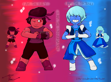 Ruby and Sapphire - Genderbend by StaryVu