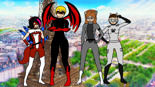 New Friends - Miraculous Ladybug OCs by DragonKid36