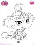 Princess Palace Pet Taj coloring Page by SKGaleana