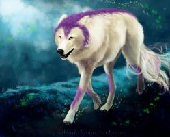 mountain wolf by syntyni