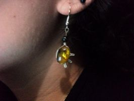 Amber earrings by Dragonfly929