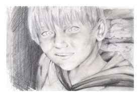 Blond Eyes Drawing by Sweater