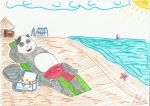 Panda in the beach (Contest entry) by Anie92