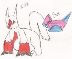 Zane and Blue by FlamingStars