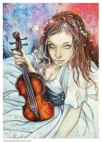 The Violin Player by Hollow-Moon-Art
