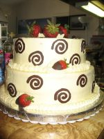 Chocolate swirls cake by kaylarah
