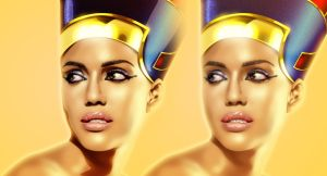 Jessica Alba, Queen of Egypt by spydaman