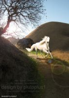Magical Bend White Horse by plutoplus1