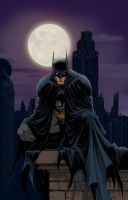 Batman by moonlight by joebenitez
