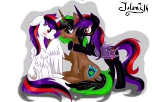 The sweet trio [Aurora, Rofix, Tytania] by Julunis14
