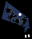 TMNT shirt design 1: Rooftop Parkour by Kobb