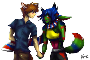 Mark x HeartBolt -Request- by PurpleArtemis