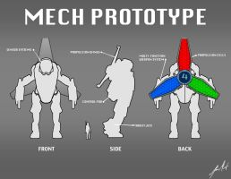 Mech Prototype Concept 1 by KevinMassey