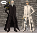 Old Bear and Ser Barristan by alcanis-ivennil