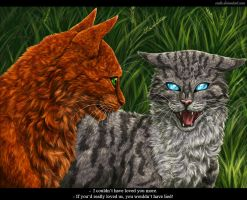 Squirrelflight and Jayfeather by Vialir