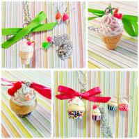 Ice Cream and Cupcake sets (for sell) by cheese-cake-panda
