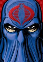 Cobra Commander Portrait Shot Commission by Thuddleston