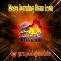 Nero Burning Rom Glass Icon by graphicjunkie