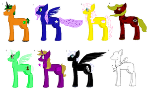 Pony adoptables by MoBAdopts