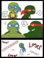 Leo and Raph- 'L' Stands for by Beastwithaddittude