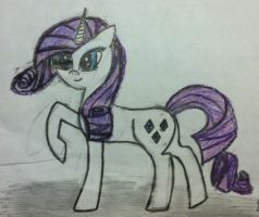 My first Rarity by InvaderRiley17
