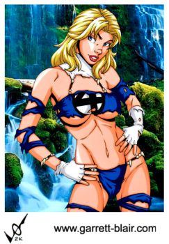 Savage Land Sue Storm by Mythical-Mommy