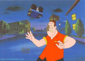 Back To The Future Cel by AnimationValley