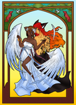 A demon dances with an angel by Misical