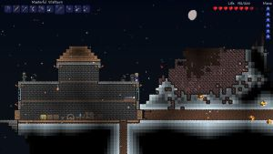 Meteor close call 2 - Terraria by Tryzon