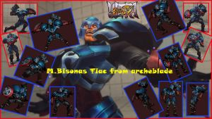 M.Bison as Tiac from Archeblade by salimano3