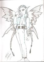 male fairy doodle by dracodawnstar