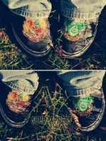 slytherin kicks. by xmmarauder