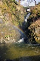 Rainbow over Aira Force waterfall by StuartVinton
