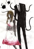 Amy and Slender Man by mio-san13
