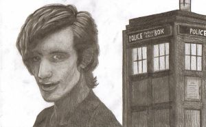 Matt Smith with TARDIS by PointsOfArticulation