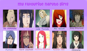 My Favorite Naruto Girls! by TeamShikaIno