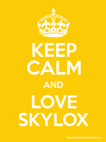.::.Keep Calm And Love Skylox Poster xD.::. by xGalaxyDairex