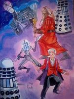 Dr Who / Farscape commission by danablackarts