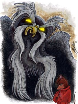 Mrs Brisby and the Great Owl by Dracunnum