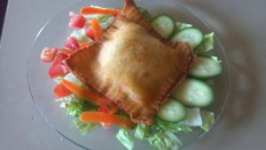 Fried 'Pie' of sorts witha garden salad by FutureChefHaku