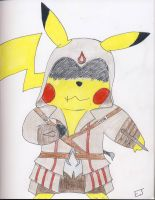 Master Assassin Pikachu by Misfortunit