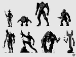Silhouette sketches [3] by LeM0N-head