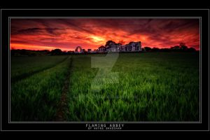 Flaming Abbey. by Wayne4585