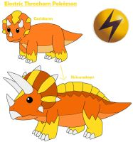 Electric Threehorn Pokemon by MCsaurus
