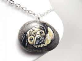 Pug Pendant Necklace by sobeyondthis