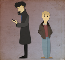 Sherlock and John by SheepyDoodle