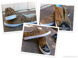 Harry Potter Marauder's Map shoes by chloebdesigns