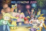 Welcoming 2014 by CyberPikachu