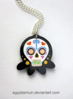 Sugar Skull Octopus Necklace 3 by egyptianruin