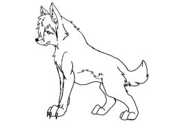 .:Free wolf line art:. by Lurker89